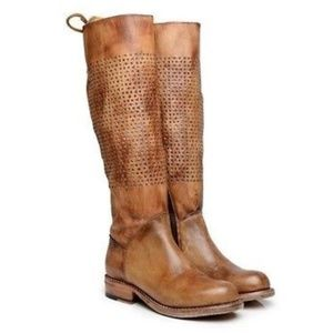 Bed Stu Cambridge Leather Boots Tan Driftwood 10